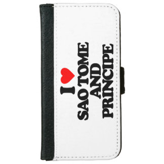 I LOVE SAO TOME AND PRINCIPE iPhone 6 WALLET CASE