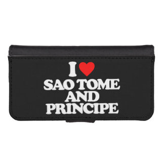 I LOVE SAO TOME AND PRINCIPE PHONE WALLET CASE