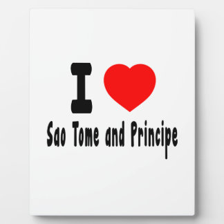 I Love Sao Tome and Principe. Display Plaque