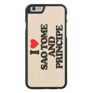 I LOVE SAO TOME AND PRINCIPE CARVED® MAPLE iPhone 6 SLIM CASE