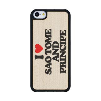 I LOVE SAO TOME AND PRINCIPE CARVED® MAPLE iPhone 5C SLIM CASE