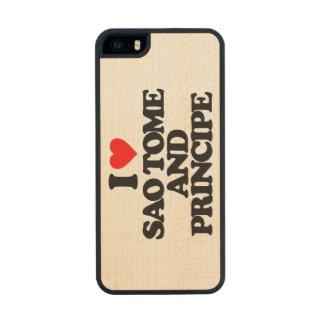 I LOVE SAO TOME AND PRINCIPE CARVED® MAPLE iPhone 5 SLIM CASE
