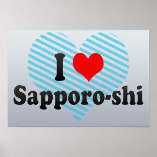I Love Sapporo-shi, Japan Poster