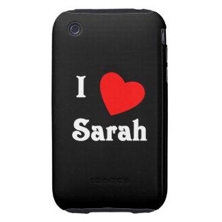 I Love Sarah iPhone 3 Tough Case