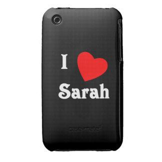 I Love Sarah iPhone 3 Case