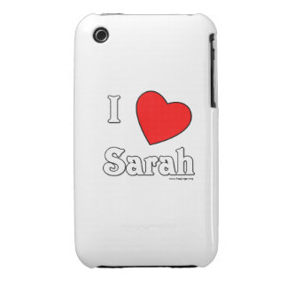 I Love Sarah iPhone 3 Cover