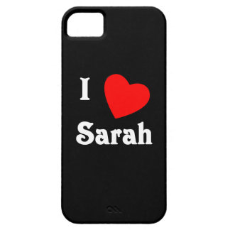 I Love Sarah iPhone 5 Case