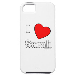 I Love Sarah iPhone 5 Cover