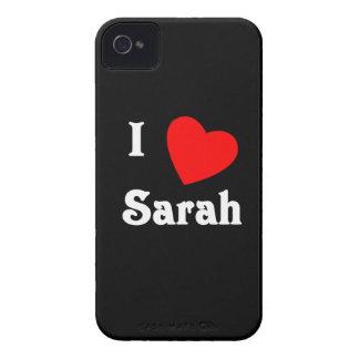 I Love Sarah iPhone 4 Case-Mate Case