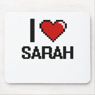I Love Sarah Digital Retro Design Mouse Pad