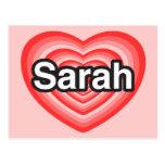 I love Sarah. I love you Sarah. Heart Post Card