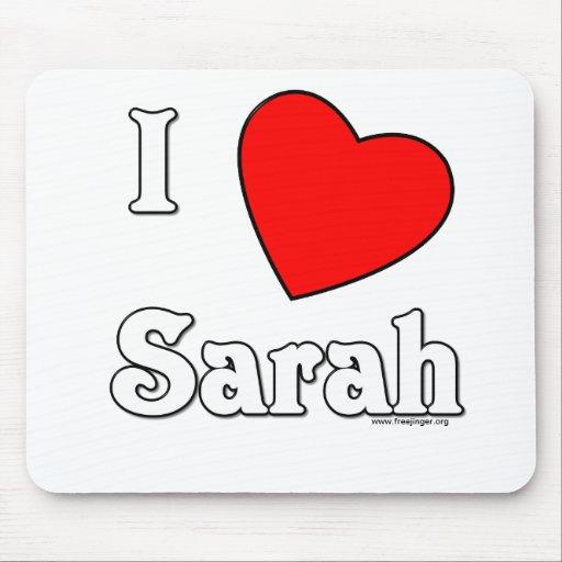 I Love Sarah Mouse Pad