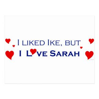 I Love Sarah Palin-1 Postcard