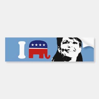 I Love Sarah Palin 3 Bumper Stickers