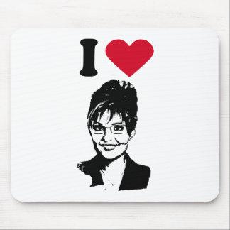 I Love Sarah Palin Mouse Pad