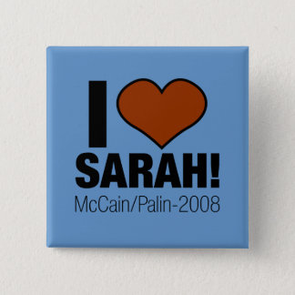 I LOVE SARAH PALIN PINBACK BUTTON