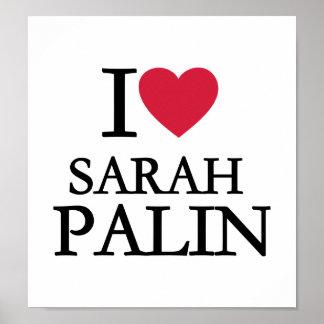 I love Sarah Palin Poster