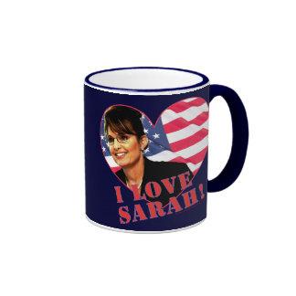 I love Sarah Palin Ringer Coffee Mug