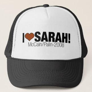 I LOVE SARAH PALIN TRUCKER HAT