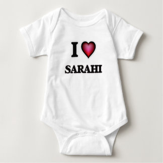 I Love Sarahi Baby Bodysuit
