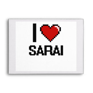 I Love Sarai Digital Retro Design Envelopes