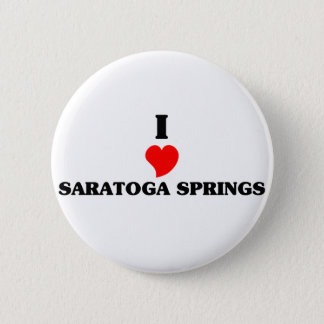 I love Saratoga Pinback Button