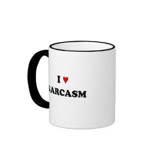 I love sarcasm ringer coffee mug