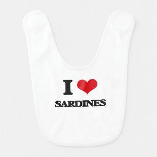 I Love Sardines Bib