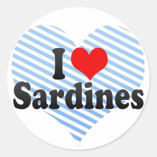 I Love Sardines Classic Round Sticker