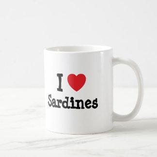 I love Sardines heart T-Shirt Classic White Coffee Mug
