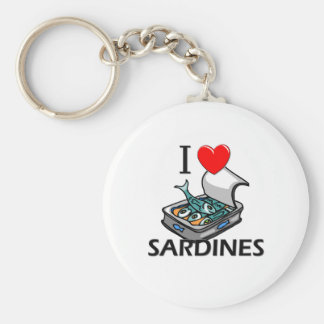 I Love Sardines Key Chain