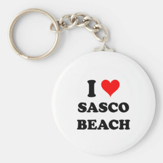 I Love Sasco Beach Connecticut Key Chains