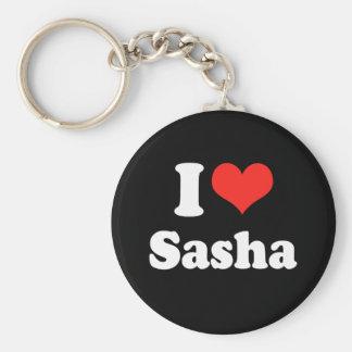 I LOVE SASHA png Keychain