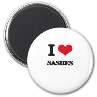 I Love Sashes 2 Inch Round Magnet