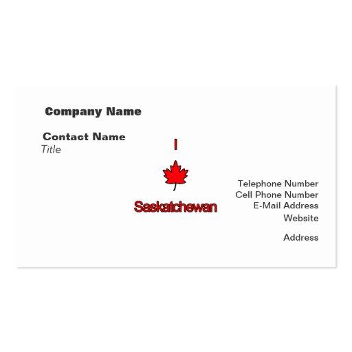 I Love Saskatchewan Double-Sided Standard Business Cards (Pack Of 100)