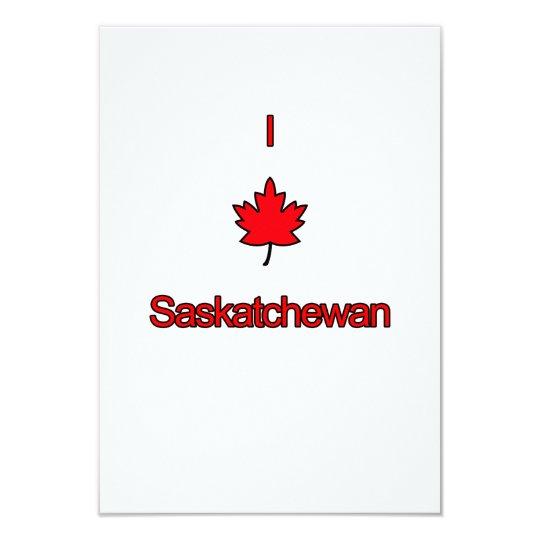 I Love Saskatchewan Card