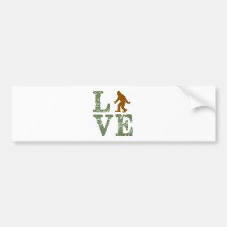 I love Sasquatch Bumper Sticker