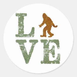 I love Sasquatch Classic Round Sticker