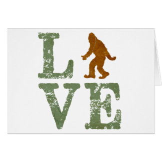 I love Sasquatch Greeting Card