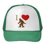 I Love Sasquatch Trucker Hat