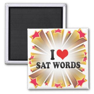 I Love SAT WORDS Refrigerator Magnet
