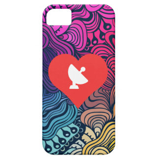 I Love Satellite Dishes Icon iPhone 5 Cases