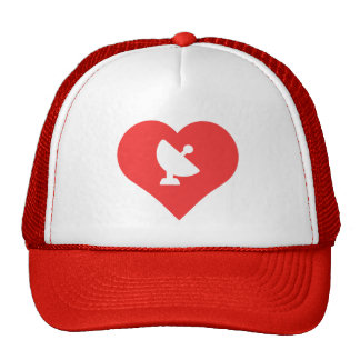 I Love Satellite Dishes Icon Trucker Hat