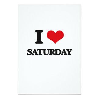 I Love Saturday 3.5x5 Paper Invitation Card
