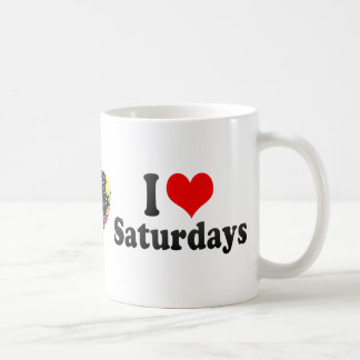 I Love Saturdays Classic White Coffee Mug