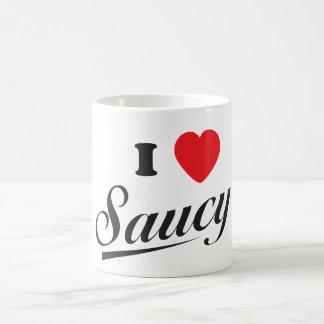 I Love Saucy Coffee Mug