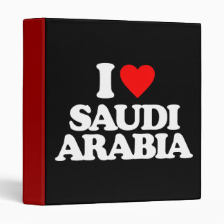 I LOVE SAUDI ARABIA VINYL BINDERS