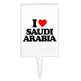 I LOVE SAUDI ARABIA CAKE PICK
