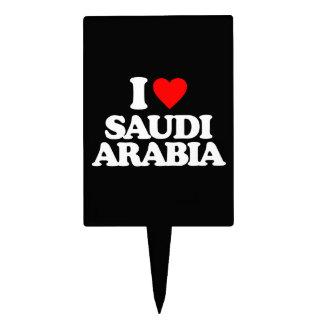 I LOVE SAUDI ARABIA CAKE TOPPER