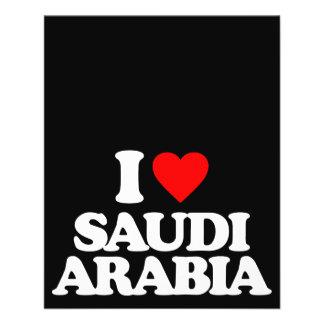 I LOVE SAUDI ARABIA FLYER DESIGN